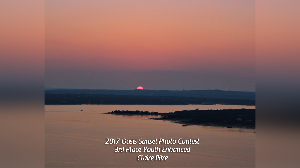 2017 Oasis Sunset Photo Contest 3rd Place Youth Enhanced Claire Pitre