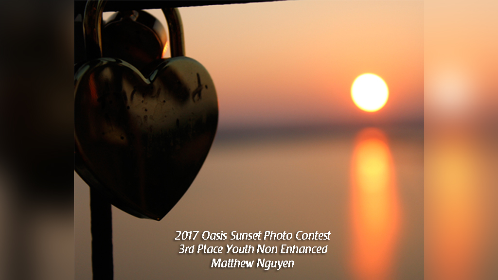 2017 Oasis Sunset Photo Contest 3rd Place Youth Non Enhanced Matthew Nguyen