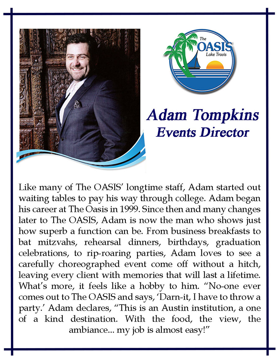 Events Director Adam Tompkins