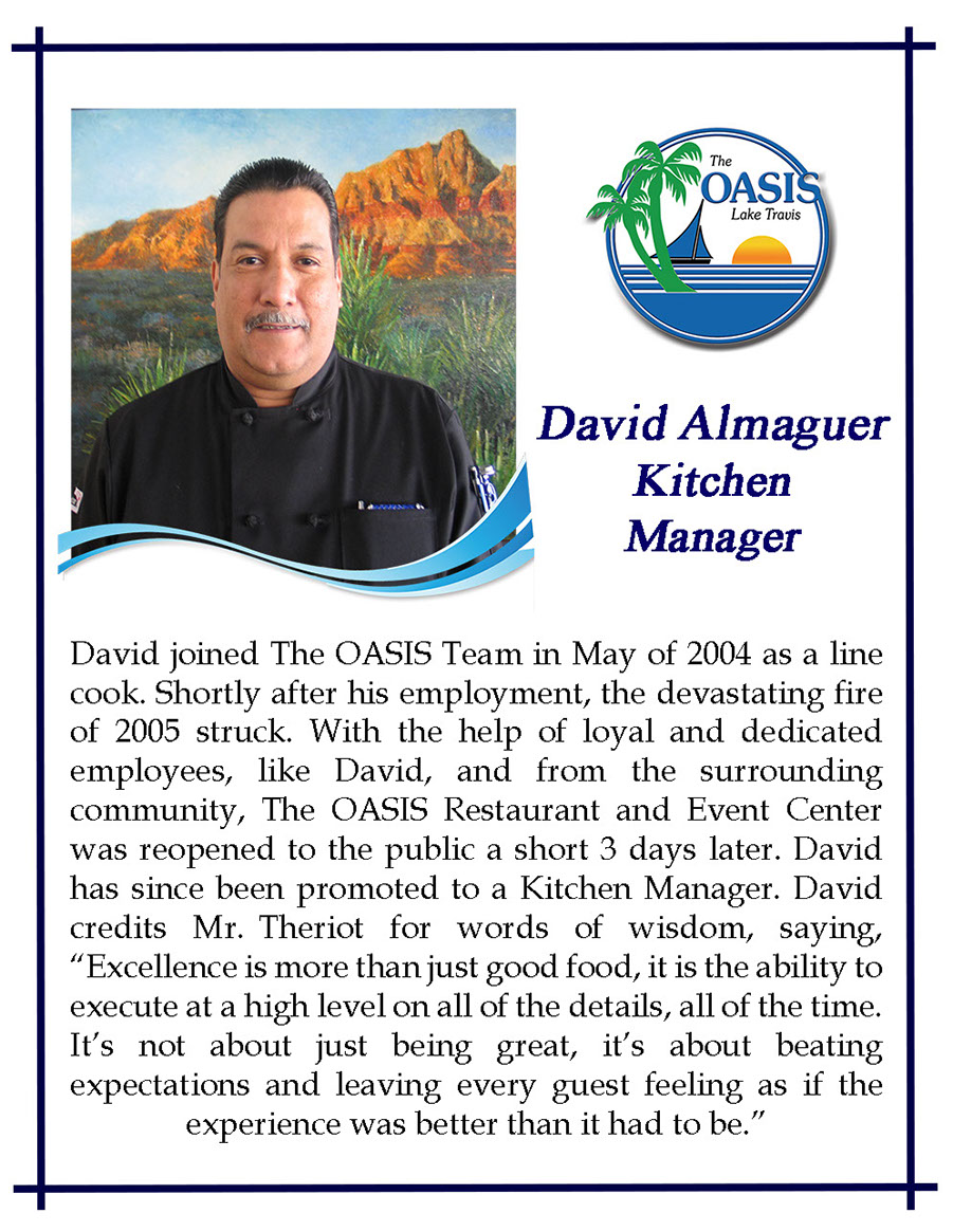 Kitchen Manager David Almaguer
