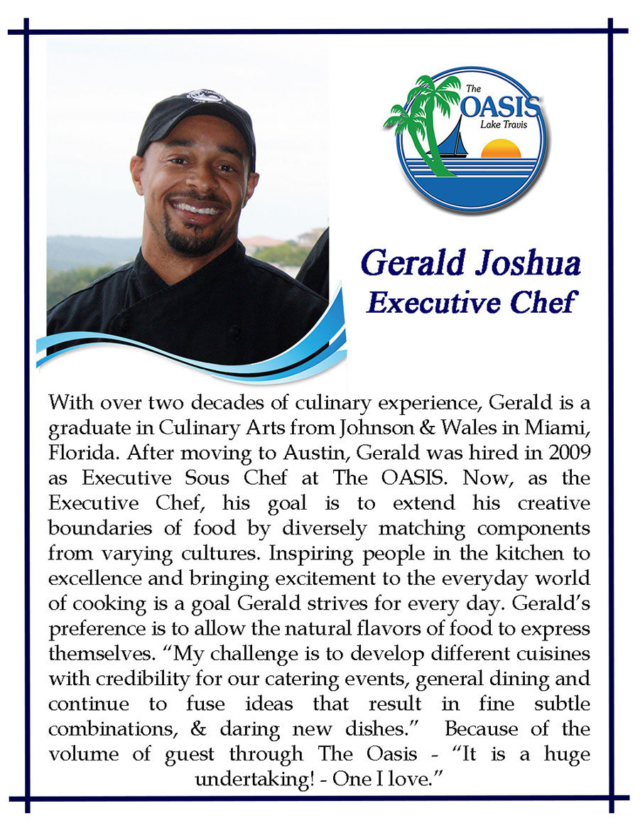 Executive Chef Gerald Joshua