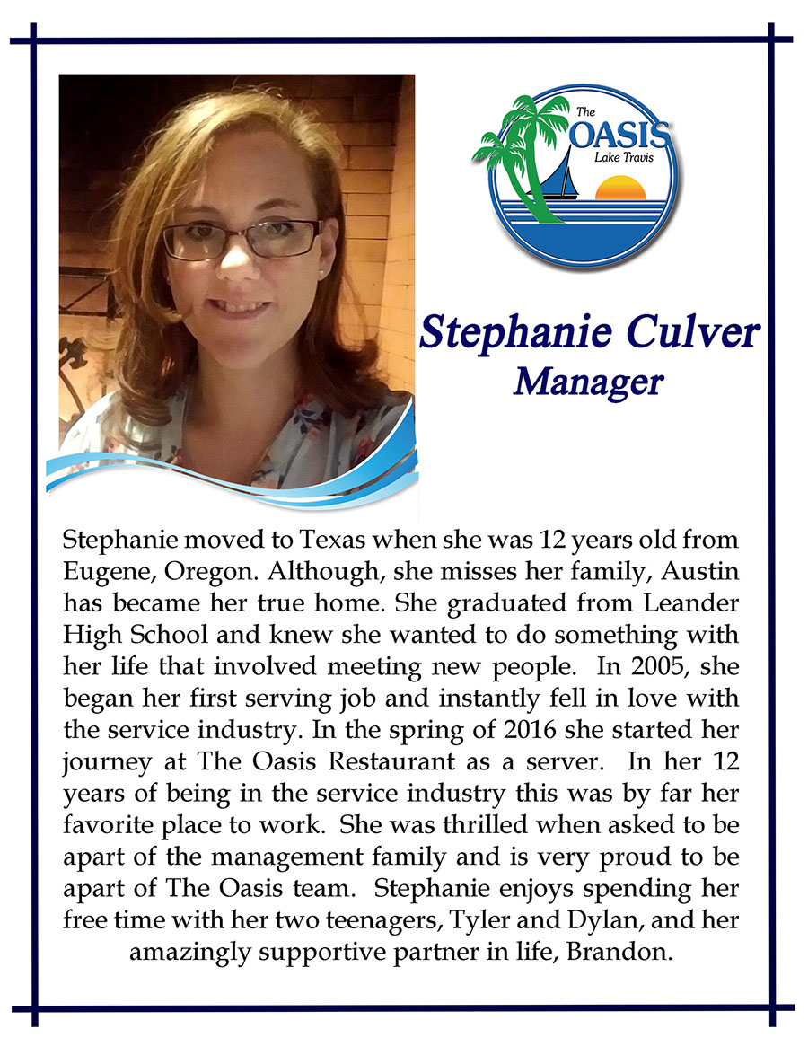 Manager Stephanie Culver