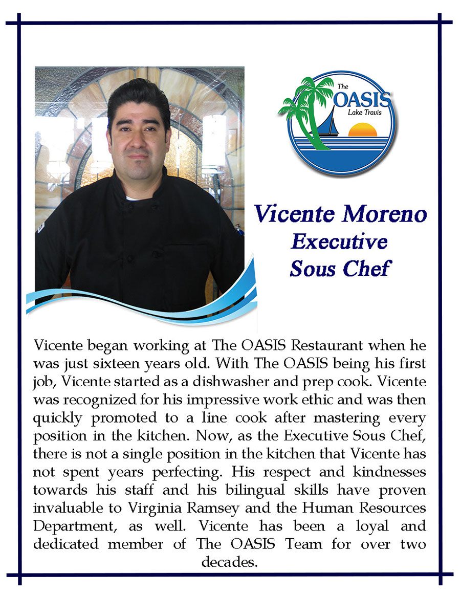 Executive Sous Chef Vicente Moreno