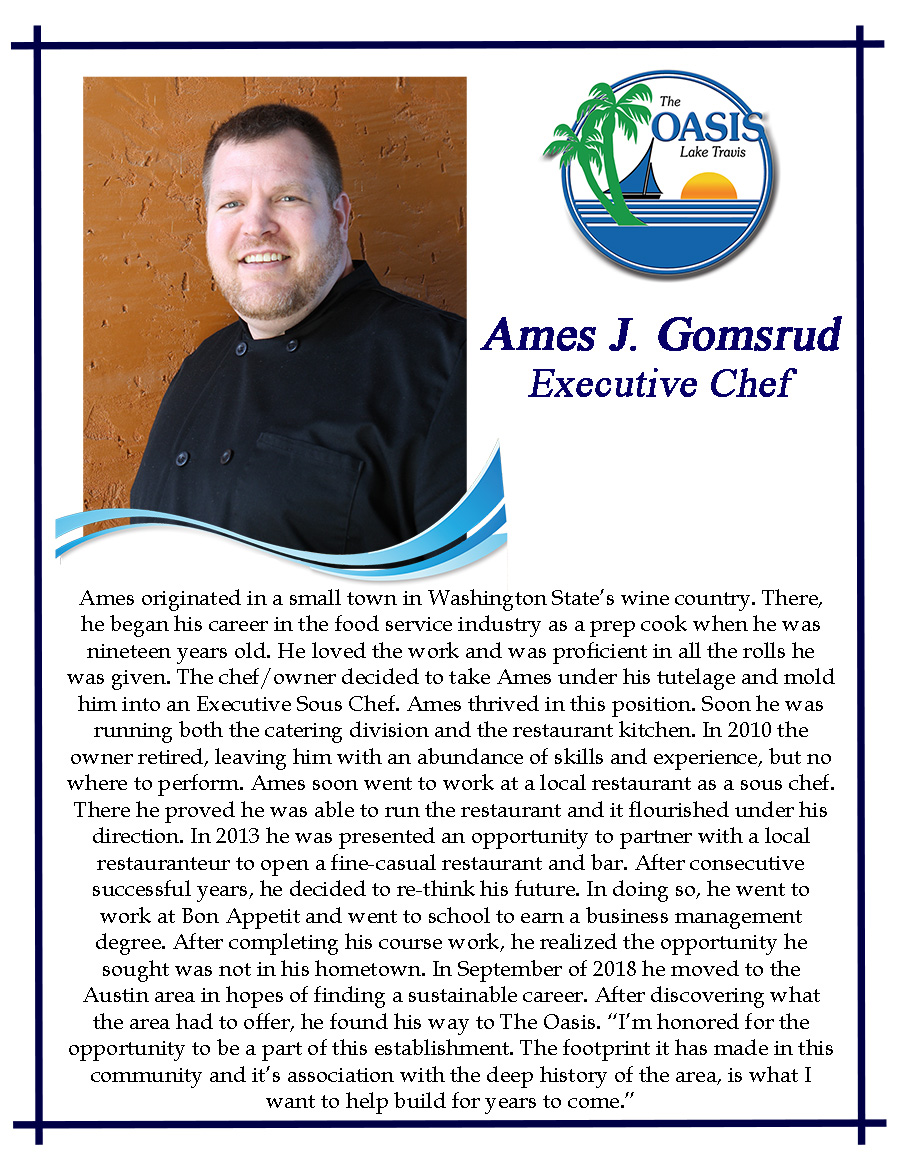 Executive Chef AJ Gomsrud